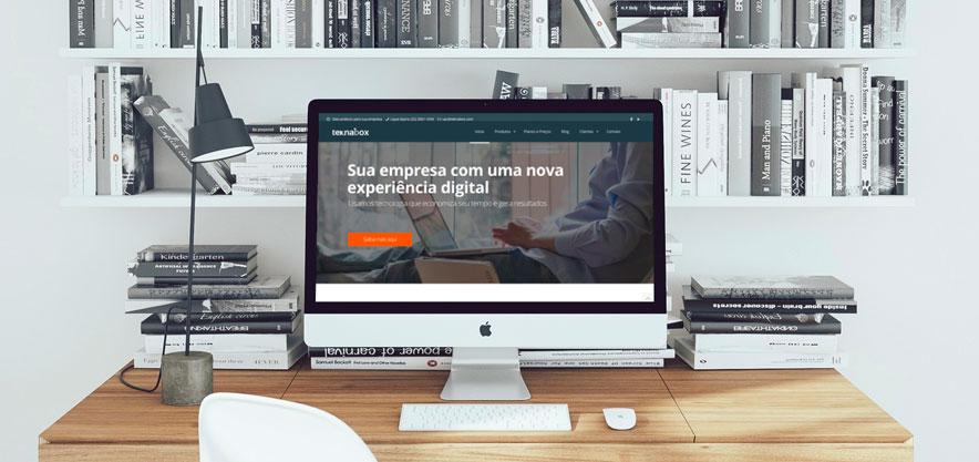 Site institucional que vende